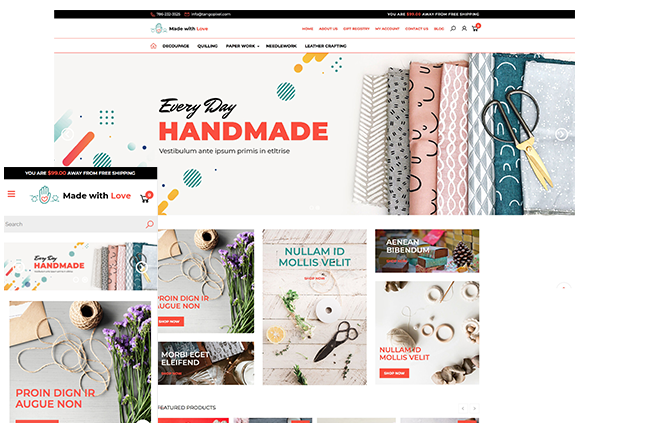 MadeWithLove theme Shift4Shop